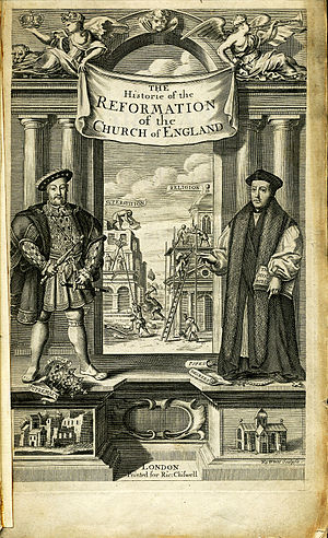 Gilbert Burnet - Engraved Title page of the first volume of The History of the Reformation of the Church of England.