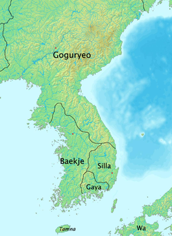 Baekje at its height in 375