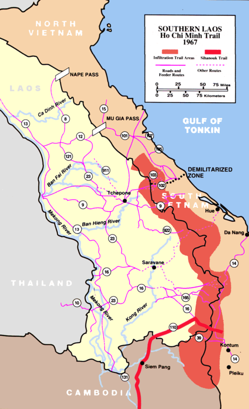 A map of the Ho Chi Minh Trail, 1967. HoCMT.png