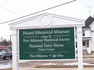 National Dairy Shrine - Welcome sign