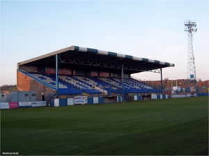 Barrow A.F.C. -  Holker Street Stadium at Dusk.