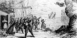 Johann Michael Wächter - The last scene of Wagner's The Flying Dutchman (1843)