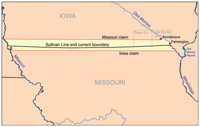 Missouri V Iowa Wikipedia - Map of northern missouri
