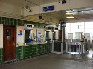 Hornchurch tube station - Ticket office constructed in 1932