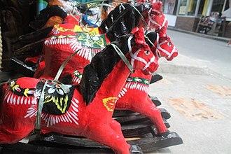Taka (paper mache) - Horse taka in display in Paete, Laguna.