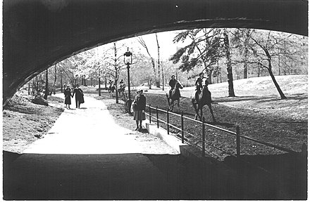 Central Park in May 1940 Horseback riding in Central Park, New York City, May, 1940.jpg
