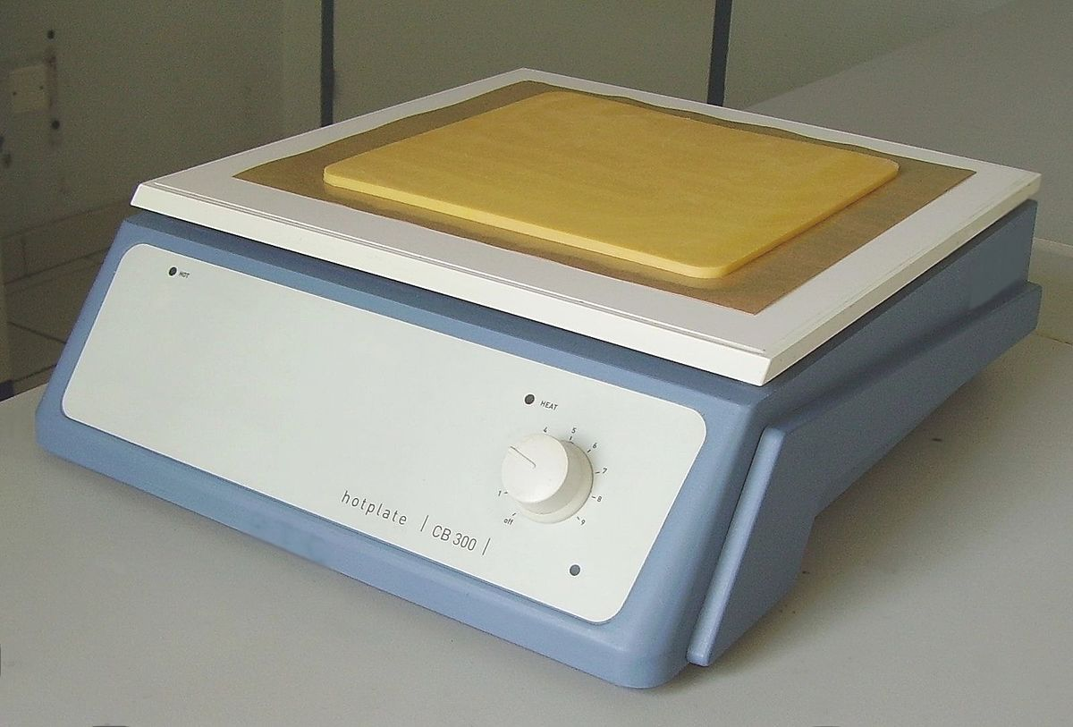 Placa calefactora - Wikipedia, la enciclopedia libre