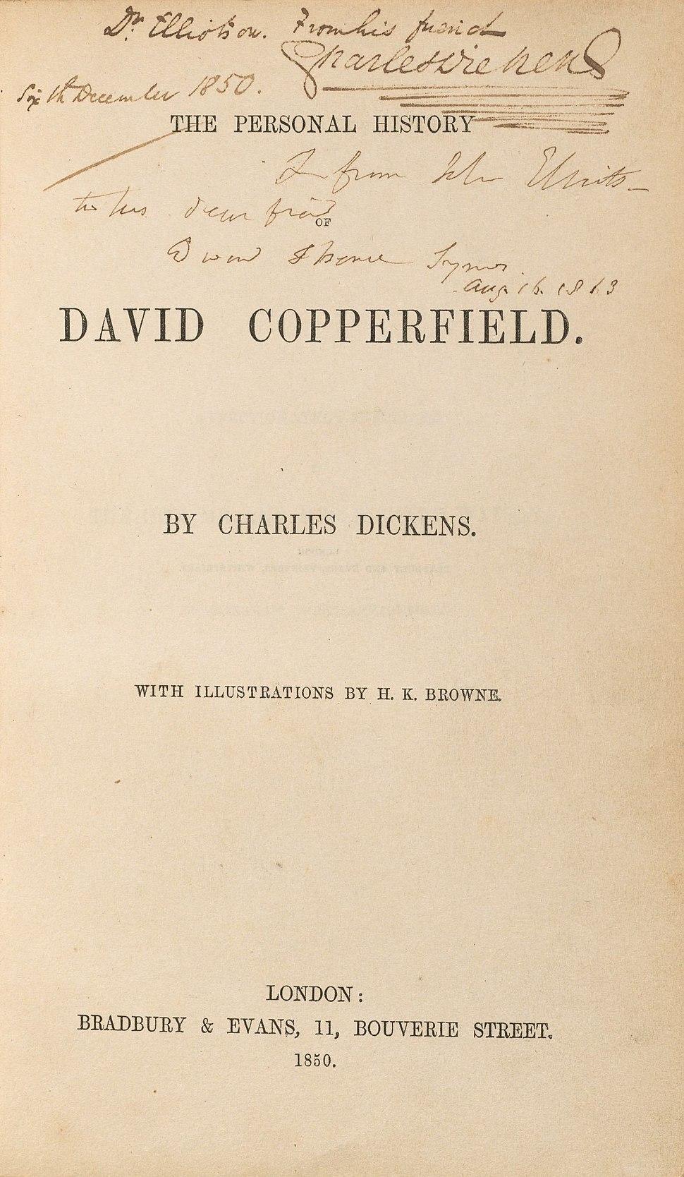 Houghton HEW 2.6.15 - Dickens, David Copperfield