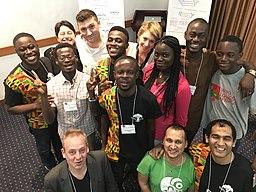 How to explain Wikipedia in Africa workshop group.jpg