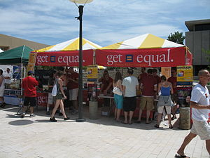 Human Rights Campaign booth at Utah Pride 2006