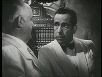 Humphrey Bogart in Casablanca.