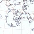 Hurricane Tara analysis 11 Nov 1961.png