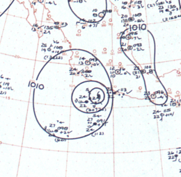Hurricane Tara analysis 11 Nov 1961.png
