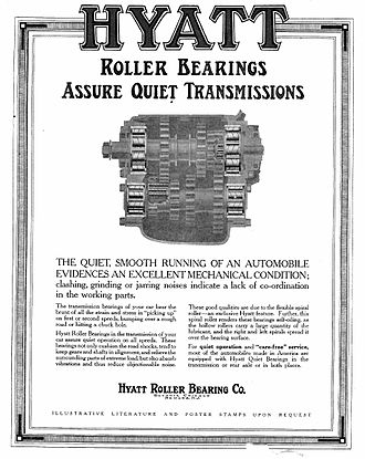 Hyatt Roller Bearing Company - Advertisement from The Saturday Evening Post of 5 June 1915