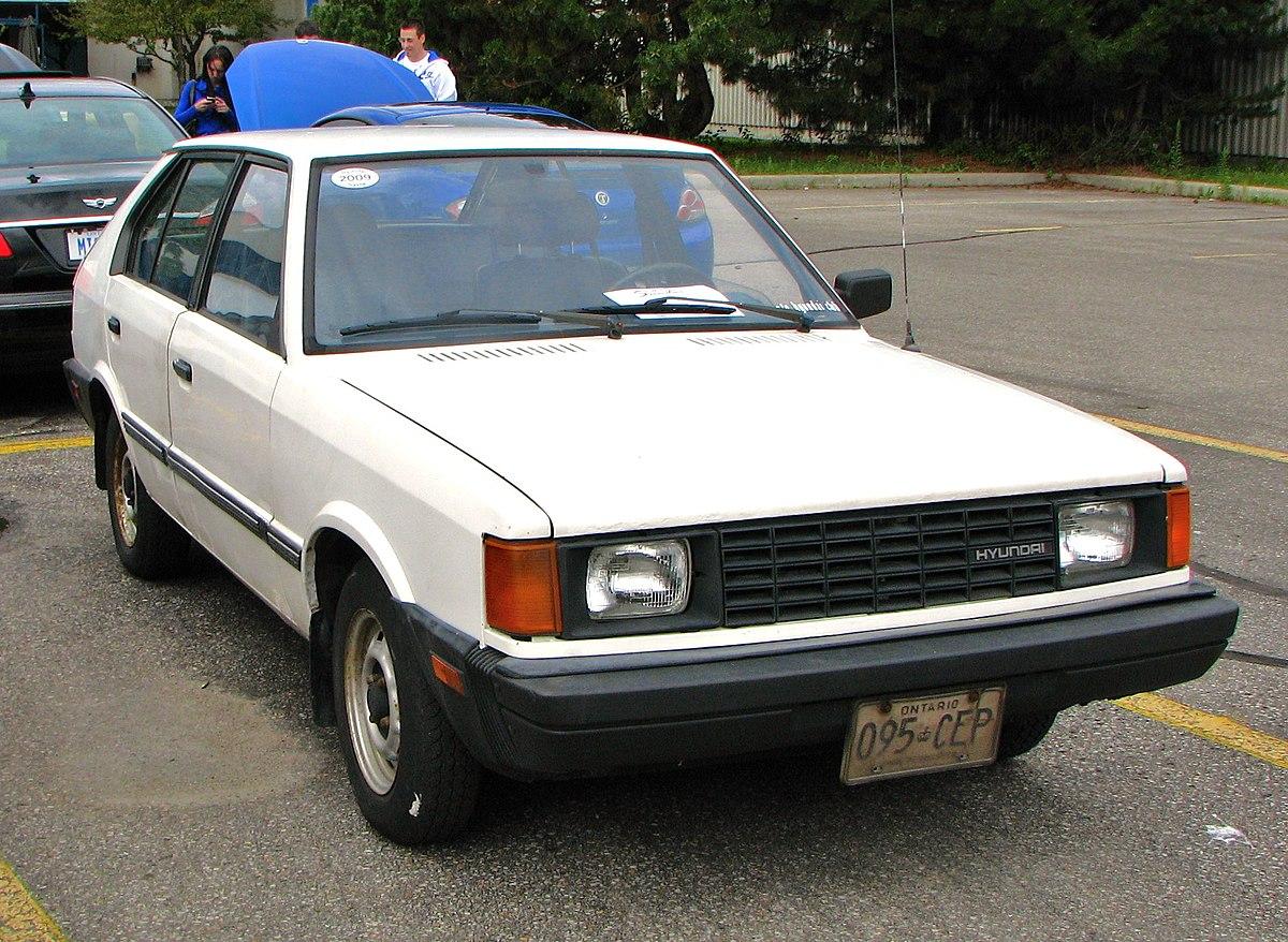 5 Door Car >> Hyundai Pony — Wikipédia