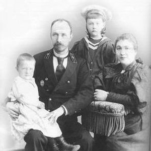 Józef Gosławski (architect) - Józef Gosławski with his family in Baku