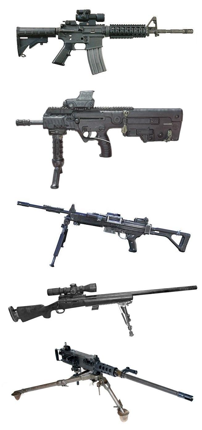IDF-Guns--M4A1--X95--Negev--M24--M2