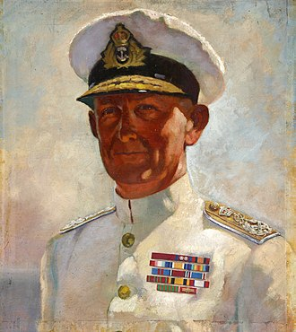 Andrew Cunningham, 1st Viscount Cunningham of Hyndhope - Portrait of Cunningham commissioned by the Ministry of Information in about 1943