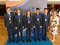 IPhO-2019 07-14 team Russia medals.jpg