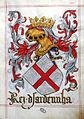I 4 mori..... senza mori nel portoghese Livro do armeiro-mor, Lisbona, 1509.jpg