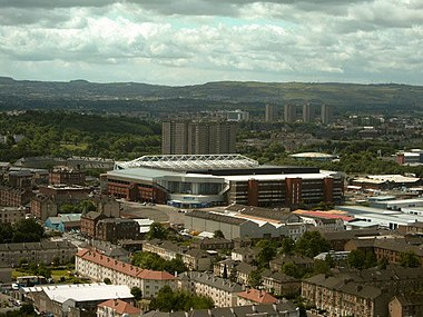 Ibrox Stadium is Scotland's only UEFA Elite stadium. Ibrox and surrounds.jpg