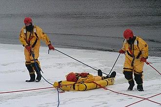 Lifesaving - Ice rescue training in Canada
