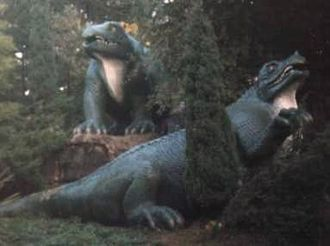 George Bax Holmes - The Iguanodon sculptures still on display in South London, though no longer considered an accurate reconstruction from the fossils