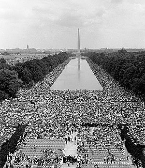 I Have a Dream - View from the Lincoln Memorial toward the Washington Monument on August 28, 1963