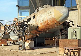 Ikarus 214 - Located in the Aviation Museum in Belgrade, this wreckage of a Ikarus 214-PP is the only surviving example of the Ikarus 214 family