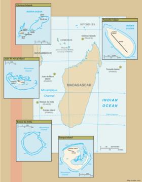 Carte Madagascar Et Ses Iles.Iles Eparses De L Ocean Indien Wikipedia