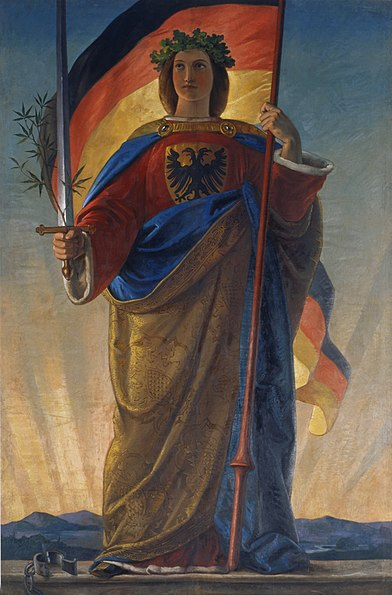 1848, painting titled Germania, by Philipp Veit.