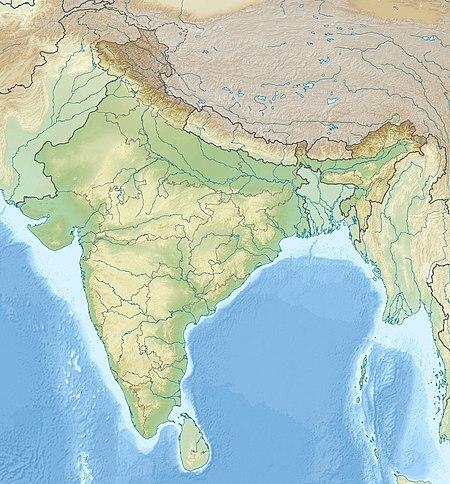 تاج محل على خريطة الهند