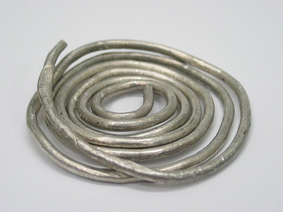 Ductile indium wire