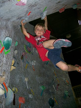 Cut-loose or cutting feet can often result in a large swing Indoor Climbing Kid.jpg