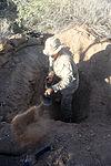 Infantrymen practice defensive tactics during Weapons, Tactics Instructor course 131015-M-OM885-285.jpg