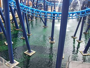 Infusion (roller coaster) - Infusion's structural support.