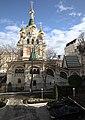 Innenhof der Botschaft der Russischen Föderation in Wien mit der Russisch-Orthodoxen Kathedrale zum heiligen Nikolaus.jpg