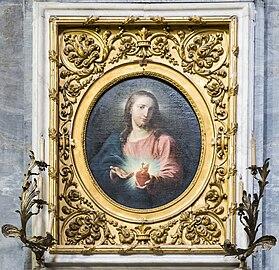 Interior of Chiesa dei Gesuiti (Venice) - left nave - Sacro Cuore di Gesù copia di Alessandro Revera dall'originale da Pompeo Battoni.jpg