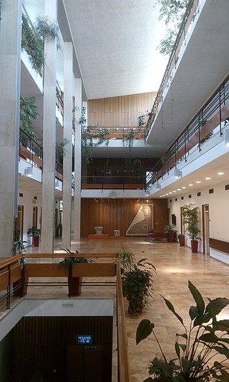 Israel Institute for Advanced Studies - View of the main atrium in the Israel Institute for Advanced Studies building