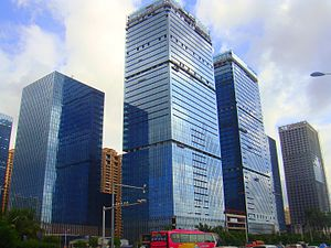 Haikou - The new International Tourism and Central Business District on Guoxing Avenue