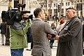 Interviewing a retired Grenadier Guard (8657846125).jpg