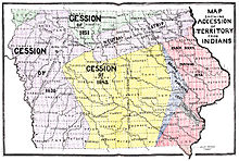 a map of iowa indian territory accessions