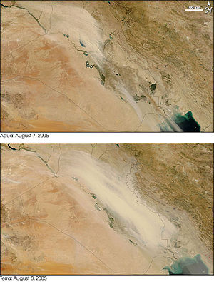 Shamal (wind) - A shamal overspreading Iraq