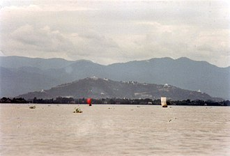 Mandalay Hill - View from the west, on the River Irrawaddy