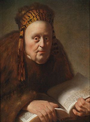 Isaac de Jouderville - Old woman with book