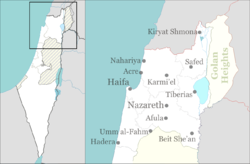 Nazareth is located in Northern Haifa region of Israel