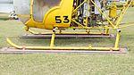 JMSDF Kawasaki Bell 47G-2A(8753) skid left side view at Kanoya Naval Air Base Museum April 29, 2017.jpg