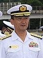 JMSDF Vice Admiral Hiroshi Yamamura 山村浩海将 (Tomomi Inada 20160823 3).jpg