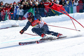 Bode Miller - Miller in the giant slalom at the 2006 Winter Olympics in Italy