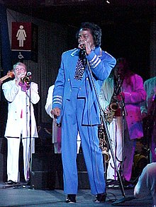 James Brown performing in 2001.